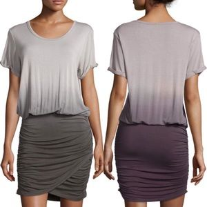 YFB Stretch Elise Short Sleeve Ombre Dress Small